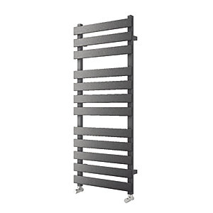 Wickes Haven Flat Panel Designer Towel Radiator - Anthracite 1200 x 500 mm