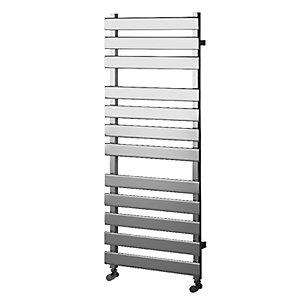 Wickes Haven Flat Panel Designer Towel Radiator - Chrome 1200 x 500 mm