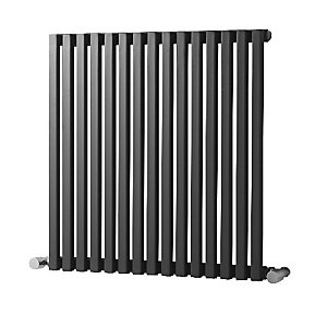Wickes Grace Multi-Column Designer Radiator - Gunmetal Grey 1800 x 465 mm
