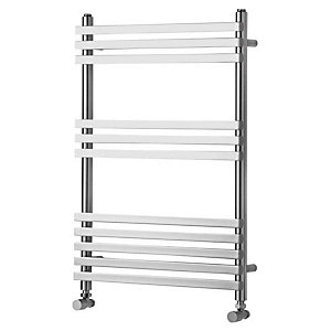 Towelrads Invent Square Chrome Heated Towel Rail Radiator - 750 x 500 mm