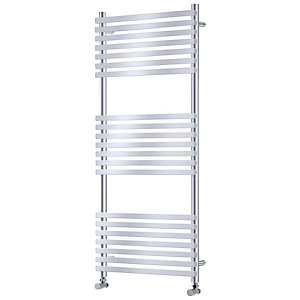 Towelrads Invent Square Chrome Heated Towel Rail Radiator - 1186 x 500 mm