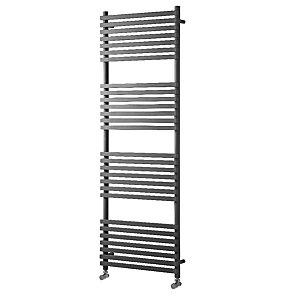 Towelrads Invent Square Anthracite Heated Towel Rail Radiator - 1186 x 500 mm