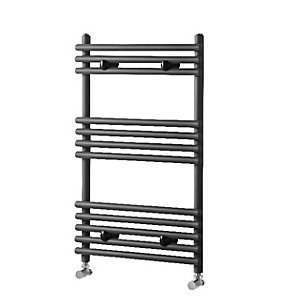 Towelrads Liquid Round Tube Anthracite Heated Towel Rail Radiator - 800 x 500mm