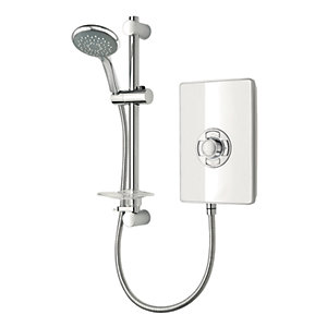 Triton Style 9.5kw Electric Shower White Gloss Effect