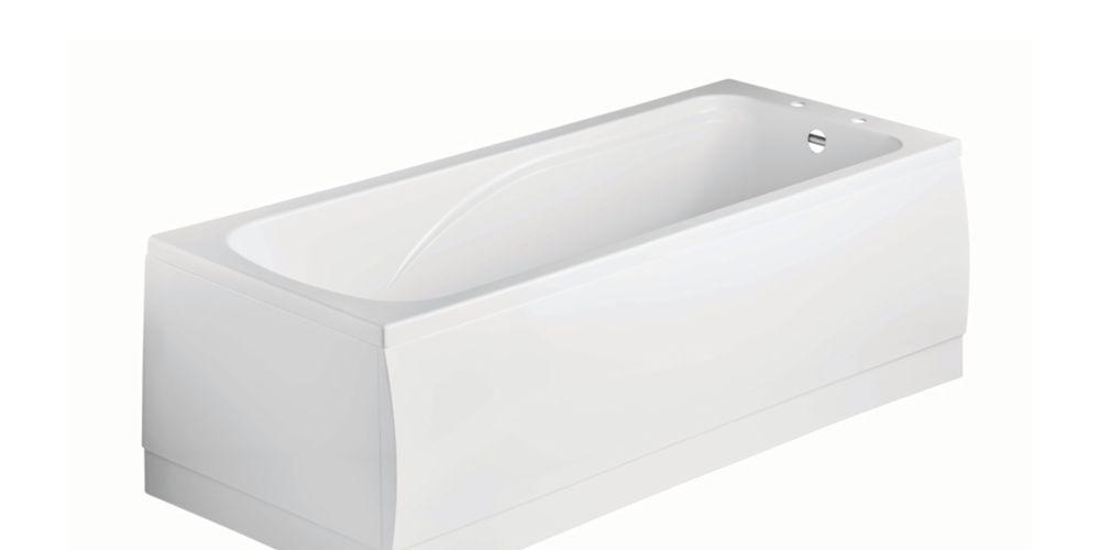 Wickes Standard Acrylic Straight Bath - 1700 x 510mm