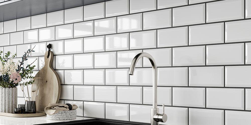 Wickes Metro White Ceramic Wall Tile 200 x 100mm