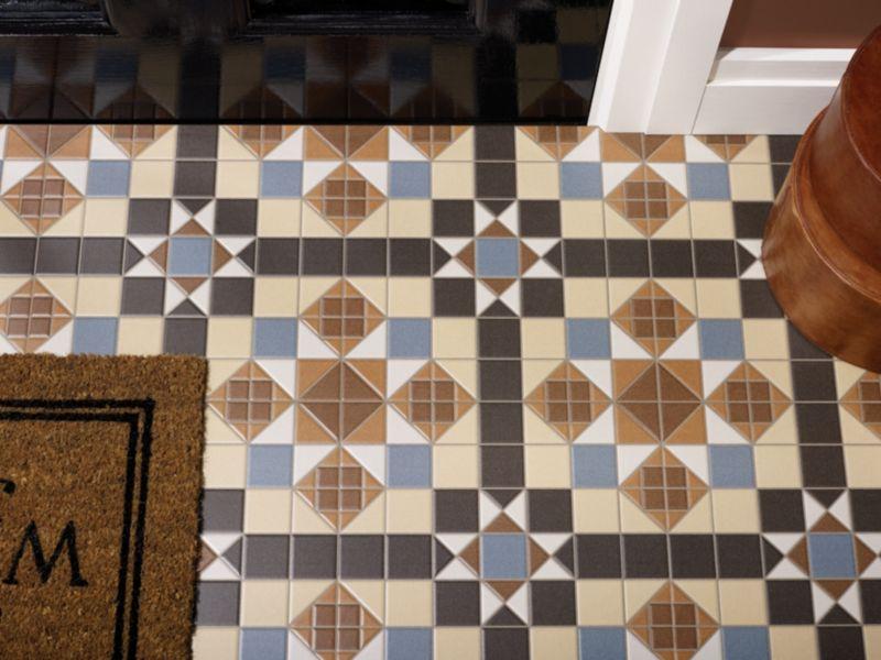 Dorset Marron Patterned Ceramic Tile