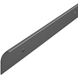 Wickes Worktop End Cover Trim - Black 28mm
