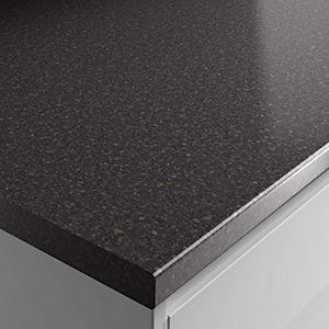 Wickes Laminate Worktop - Taurus Black Gloss 600mm x 38 mm x 3m