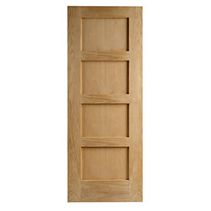 Wickes Marlow Oak 4 Panel Shaker Internal Fire Door