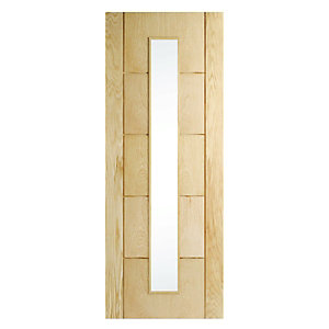 Wickes Thame Glazed Oak 5 Panel Internal Door - 1981mm