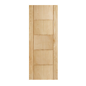 Wickes Thame Oak 5 Panel Internal Fire Door - 1981mm x 762mm