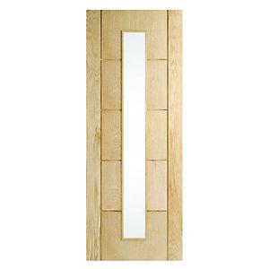 Wickes Thame Glazed Oak Veneer Ladder Internal Door - 1981 x 762mm