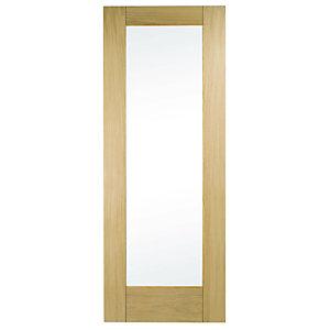Wickes Oxford Glazed Oak Veneer 1 Panel Internal Door - 1981 x 762mm