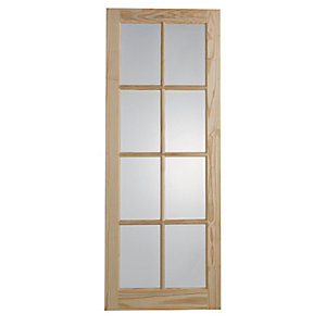 Wickes Newland Glazed Clear Pine 8 Lite Internal Door - 1981mm x 686mm
