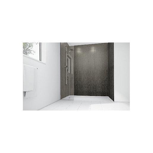 Mermaid Concrete Laminate 2 Sided Shower Panel Kit