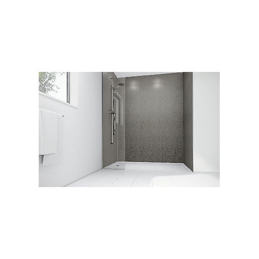 Mermaid Nickel Gloss Laminate 2 Sided Shower Panel