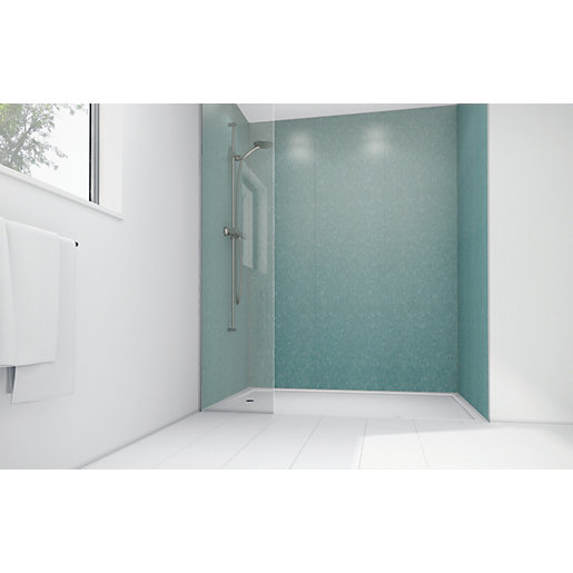 Mermaid Peppermint Frost Gloss Laminate 2 Sided Shower