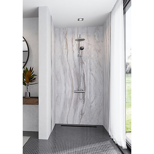 Mermaid Elite Marmo Linea 3 Sided Shower Panel