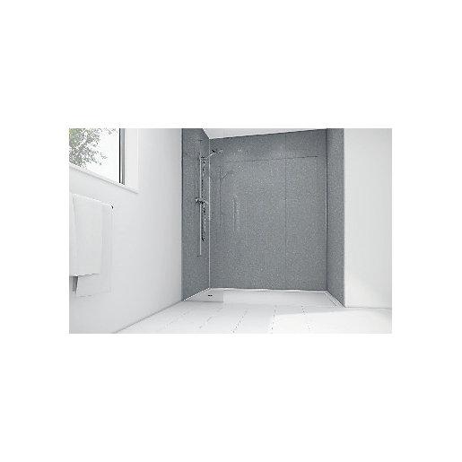 Mermaid Silver Diamond Acrylic 3 sided Shower Panel