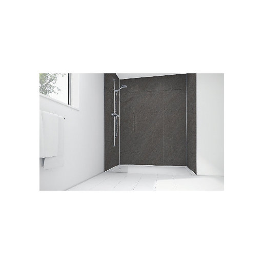 Mermaid Solar Grey Laminate 3 Sided Shower Panel