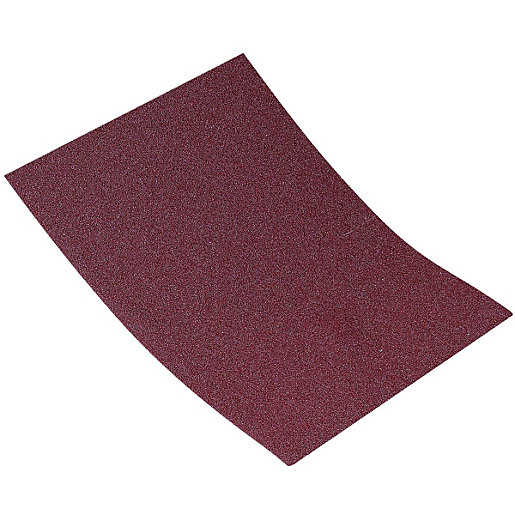 Wickes Aluminium Oxide Cloth-Backed Assorted Sandpaper Sheets -