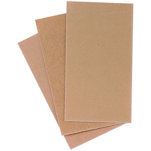 Wickes Sanding Block Paper Assorted Sheets - Pack
