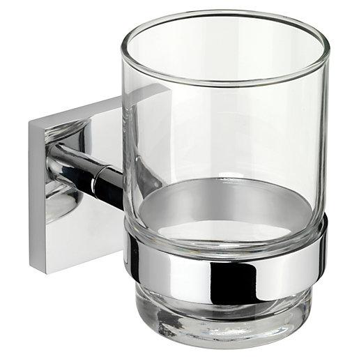 Croydex Chester Flexi-Fix™ Bathroom Tumbler & Holder -