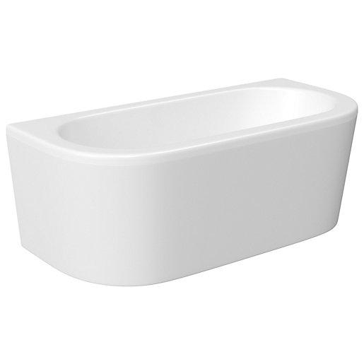 Wickes D-Shaped Blend 14 Jet Light Whirlpool Bath