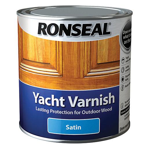Ronseal Exterior Yacht Varnish Satin - 1L