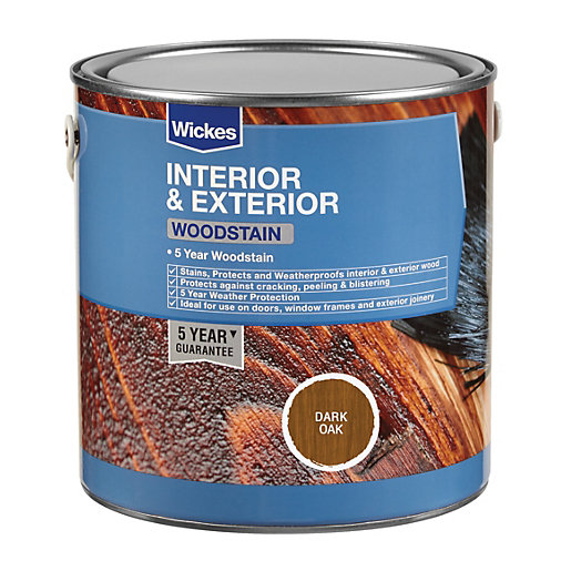 Wickes Woodstain - Dark Oak 750ml