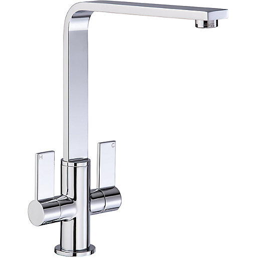 Abode Quantic Dual Lever Monobloc Sink Mixer Tap