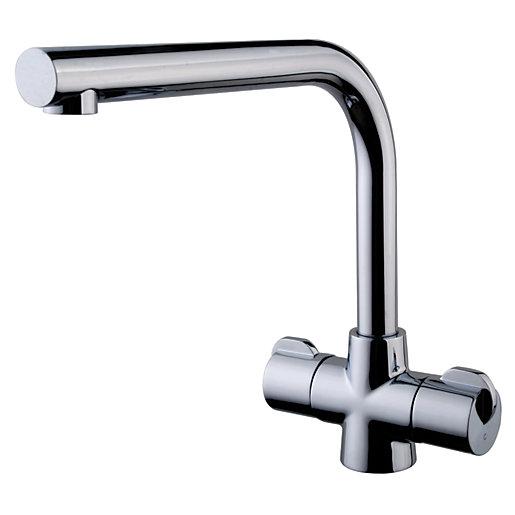 Wickes Cosa Monobloc Kitchen Sink Mixer Tap Chrome Wickes Co Uk
