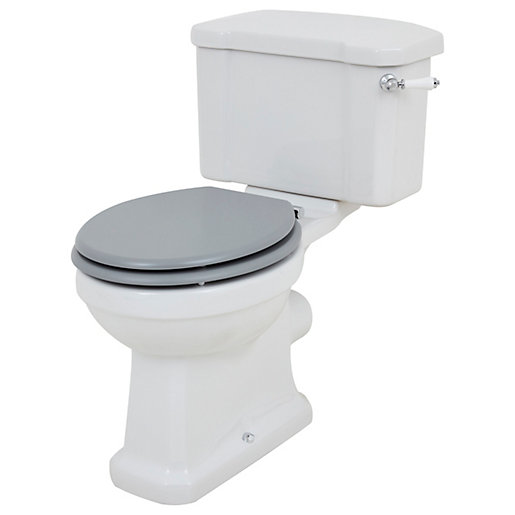 Wickes Oxford Traditional Close Coupled Toilet Pan, Cistern