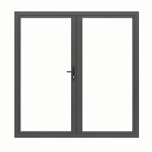 Jci Aluminium French Door Grey Outwards Opening