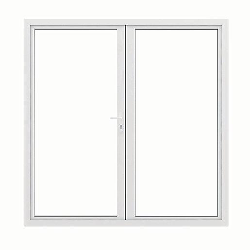 Jci Aluminium French Door White Outwards Opening