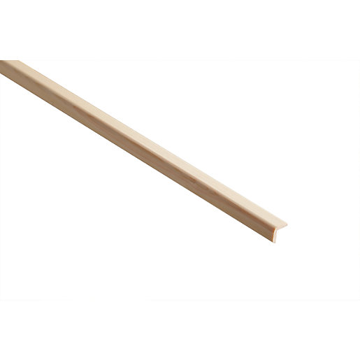 Wickes Pine Round Edge Angle Moulding - 20mm