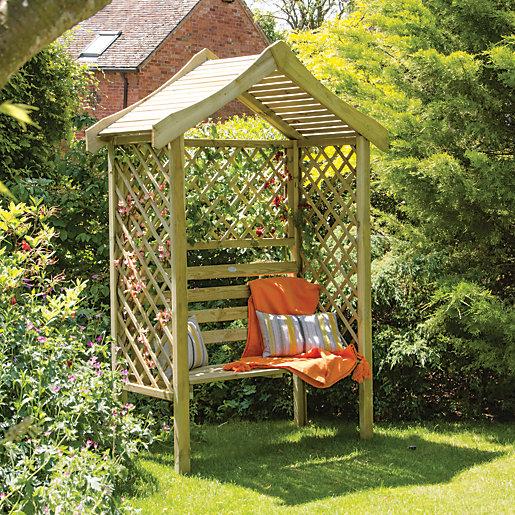 Forest Garden Parisienne Trellis Garden Arbour - 1540