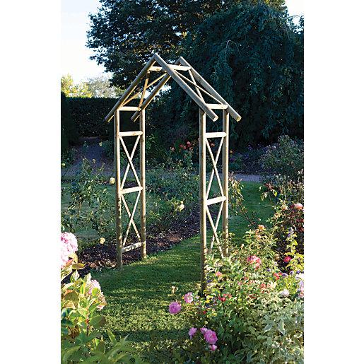 Rowlinson Rustic Classical Criss-cross Garden Arch - 1490