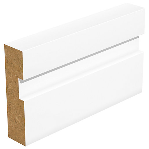 Grooved Square Edge MDF Architrave - 18mm x