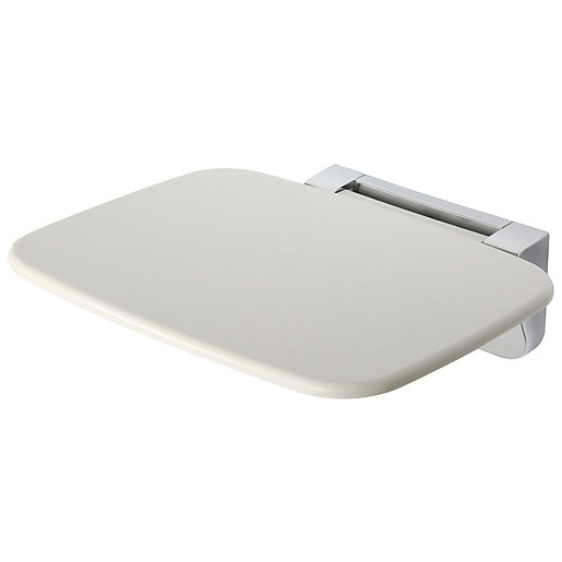 Croydex Chrome & White Wall Mounted Shower Seat