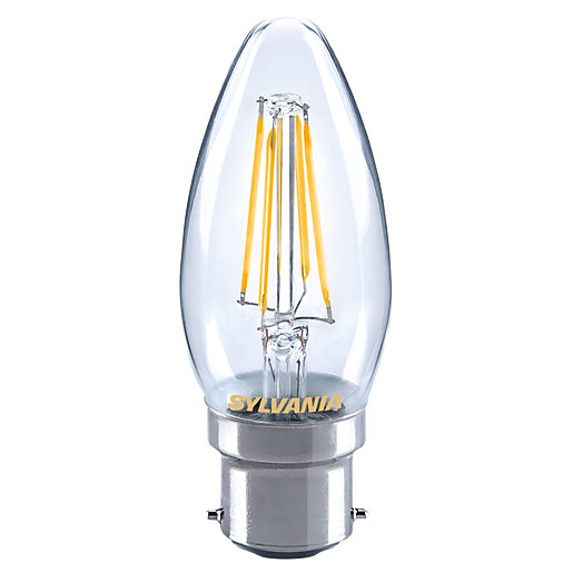 Sylvania LED Dimmable Filament Candle B22 Light Bulb