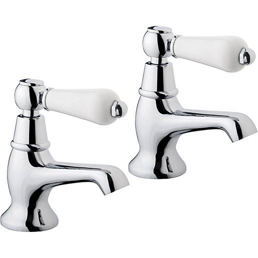 Wickes Enchanted Basin Taps - Chrome