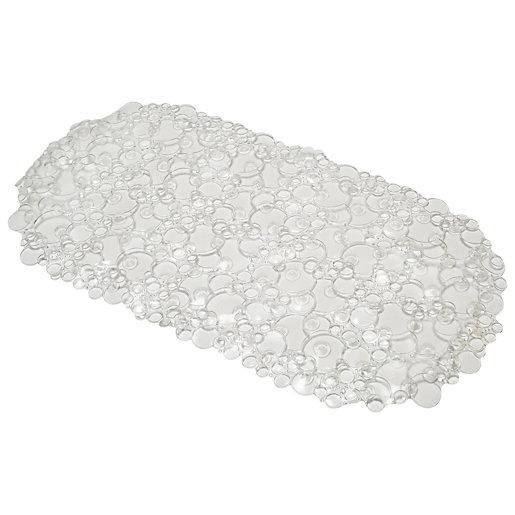 Croydex Bubbles Bath Mat - Clear
