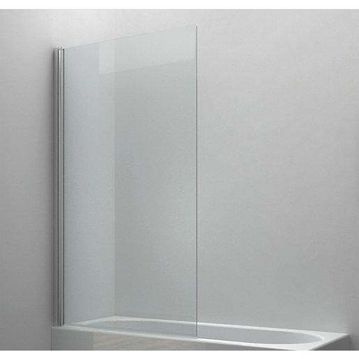 Wickes 6mm Half Framed Radius Bath Screen -