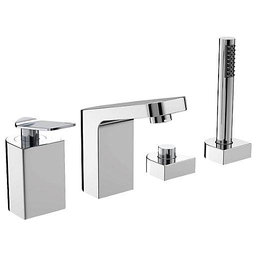 Bristan Alp 4 Hole Deck Bath Shower Mixer