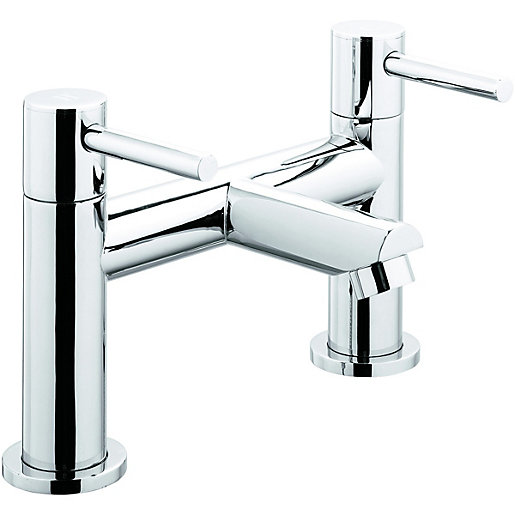 Wickes Double Lever Bath Filler Tap - Chrome