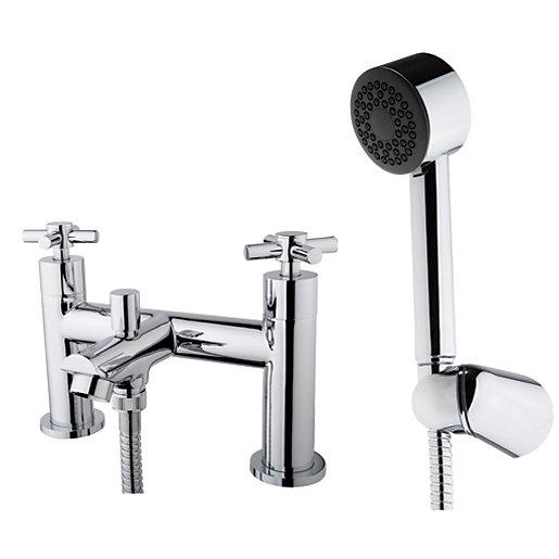 Wickes Trivor Chrome Bath Shower Mixer Tap