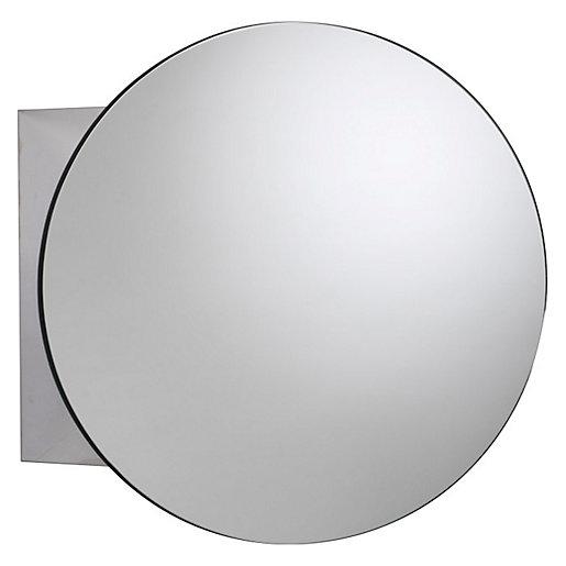 Croydex Severn Circular Mirrored Bathroom Cabinet - 500