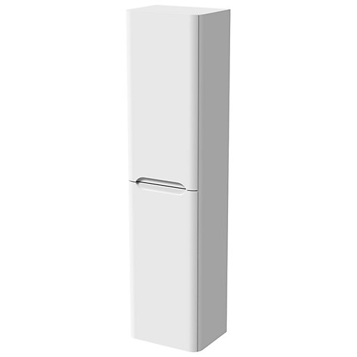 Malmo Gloss White Wall Hung J Pull Tower